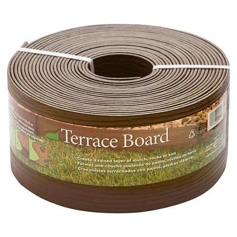 """5"""" x 40' Terrace Board Lawn And Garden Edging With 10 stakes - Brown - Master Mark Plastics - image 1 of 1"""