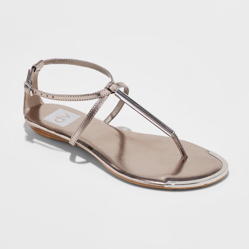 Women's dv Acher Thong Sandals - Pewter (Silver) 7