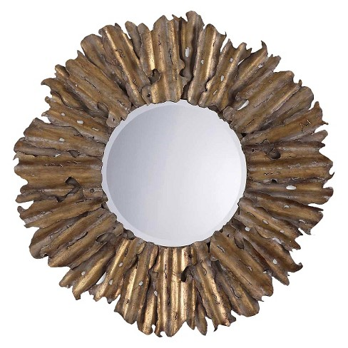 Sunburst Hemani Antique Gold Decorative Wall Mirror - Uttermost - image 1 of 2