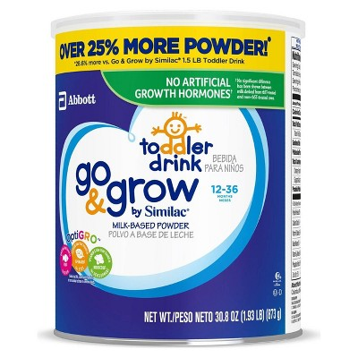 Go & Grow by Similac Toddler Drink Powder - 61.6oz Total