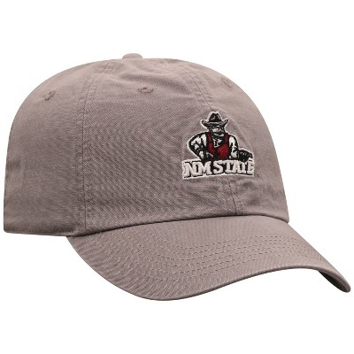 NCAA New Mexico State Aggies Men's Gray Garment Washed Canvas Hat