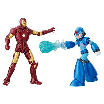 "Marvel Action Figure - Marvel vs. Capcom - Iron Man & Mega Man X - 3.75"""