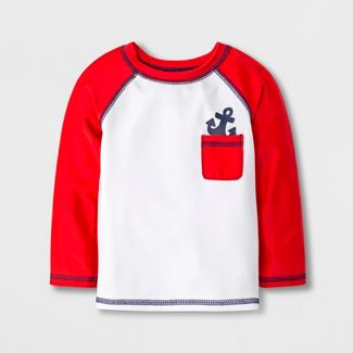 Baby Boys' Anchor Pocket Rash Guard - Cat & Jack™ Red 3-6M