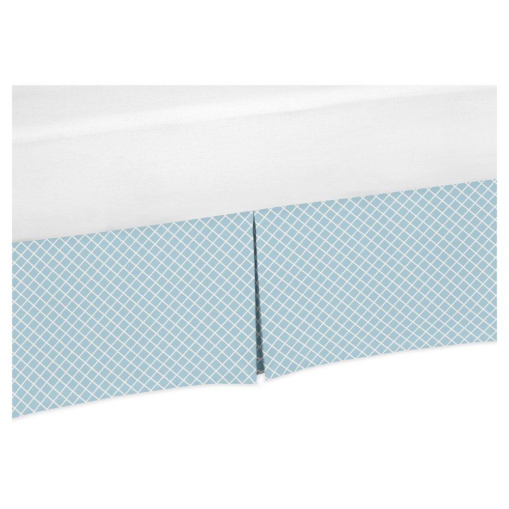 Image of Blue/White Bed Skirt - Sweet Jojo Designs, White Blue