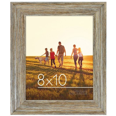 Lodge Frame Made of Composite Wood / Polished Glass Rustic with Horizontal and Vertical Formats for Wall and Tabletop - Americanflat