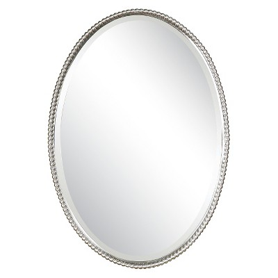 Oval Sherise Decorative Wall Mirror Brushed Nickel - Uttermost