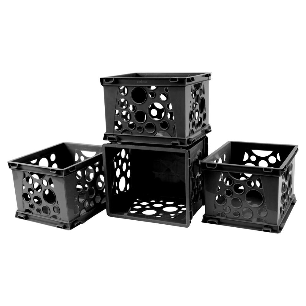 Storex Mini Crates 18ct - Black