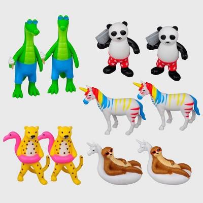 10ct Pool Party Animal Figures - Bullseye's Playground™
