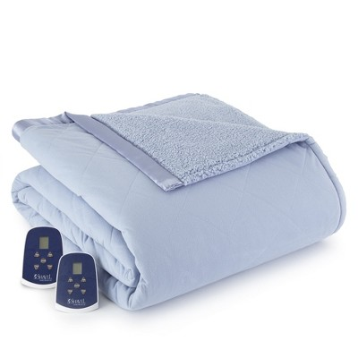 Shavel Micro Flannel High Quality Heating Technology Luxuriously Soft & Warm Solid Patterned Sherpa Electric Blanket