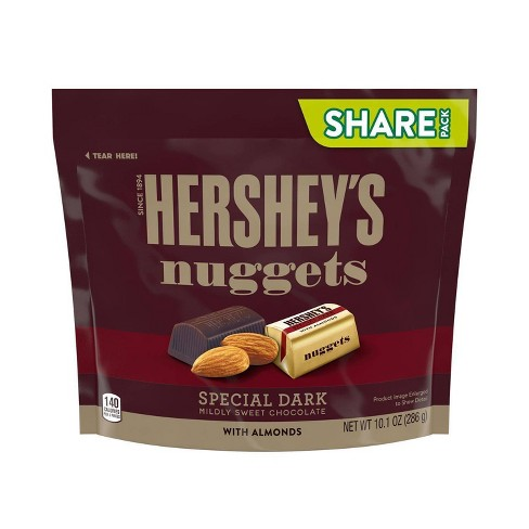 Hershey's Nuggets Dark Chocolate with Almonds Share Size - 10.1oz - image 1 of 4