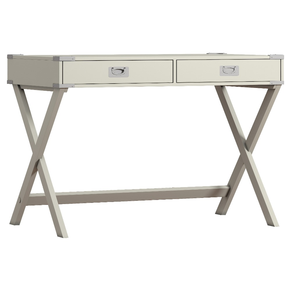 Kenton Writing Desk Silver Putty - Inspire Q