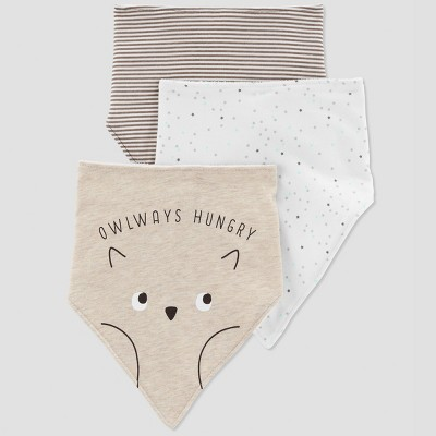 Baby's 3pk Owlways Hungry - Just One You® made by carter's Tan