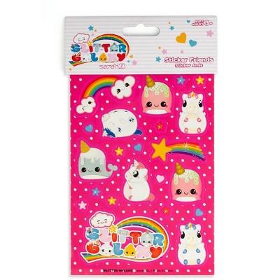 Se7en20 Glitter Galaxy Sticker Friends Sheet Wave 2