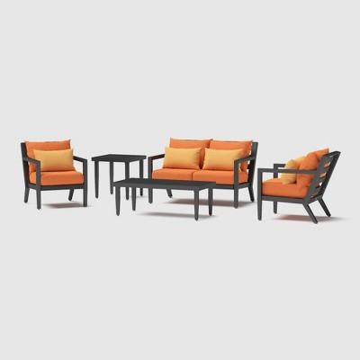 Thelix 5pc Seating Set - Tikka Orange - RST Brands