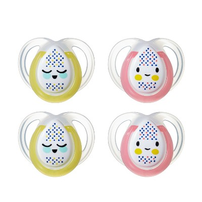 Tommee Tippee Closer to Nature Night Time Baby Pacifier - 4pk