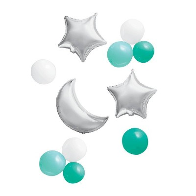 Foil + Latex Moon and Star Balloon Pack - Spritz™