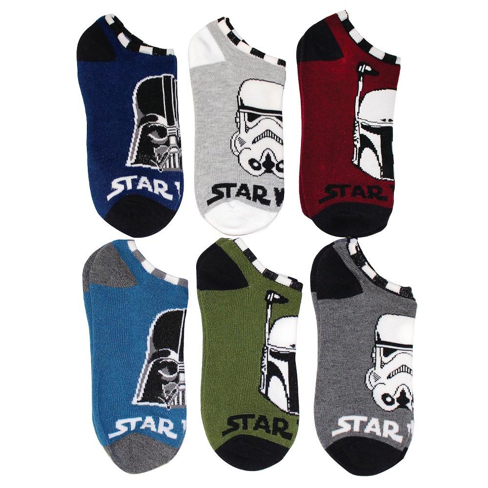 Boys' Star Wars 6 Pack Low Cut Socks - Navy S/M, Blue