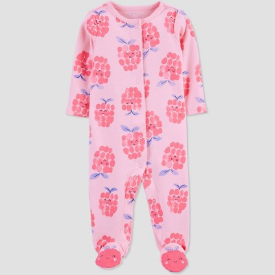 Baby Girls' Raspberry Sleep N' Play - Just One You® made by carter's Blue/Pink 6M