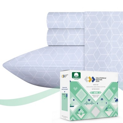 Signature 5-Star Hotel 600 Sateen   100% Cotton Sheets Set   Soft, Smooth & Crisp   Deep Pockets - California Design Den