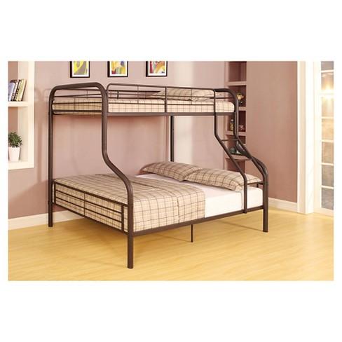 Cairo Kids Bunk Bed Sandy Black Twin Full Acme Target
