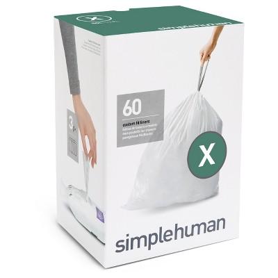 Trash Bags: Simplehuman code X