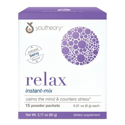 Youtheory Relax Instant-Mix Powder Packets - 15ct