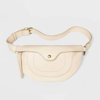 Women's Zip Closure Fanny Pack - Universal Thread™ Cream