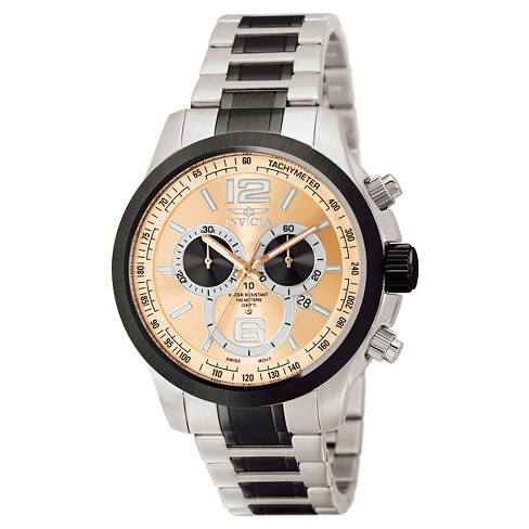 Men's Invicta 0079 Specialty Quartz Chronograph Brown Dial Link Watch - Brown - image 1 of 1