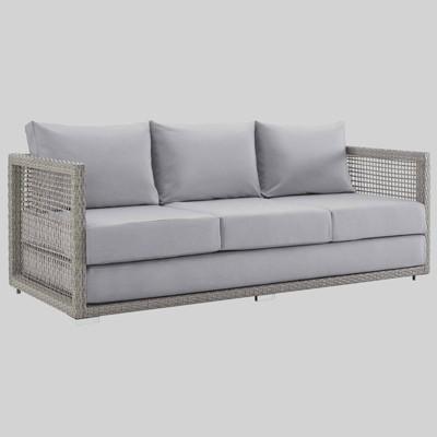 Aura Outdoor Wicker Rattan Patio Sofa - Modway