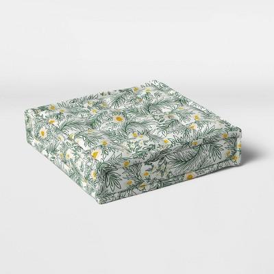 Spring Floral Outdoor Floor Cushion DuraSeason Fabric™ Green - Opalhouse™