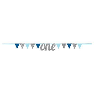 1st Birthday Boy Pennant Banner