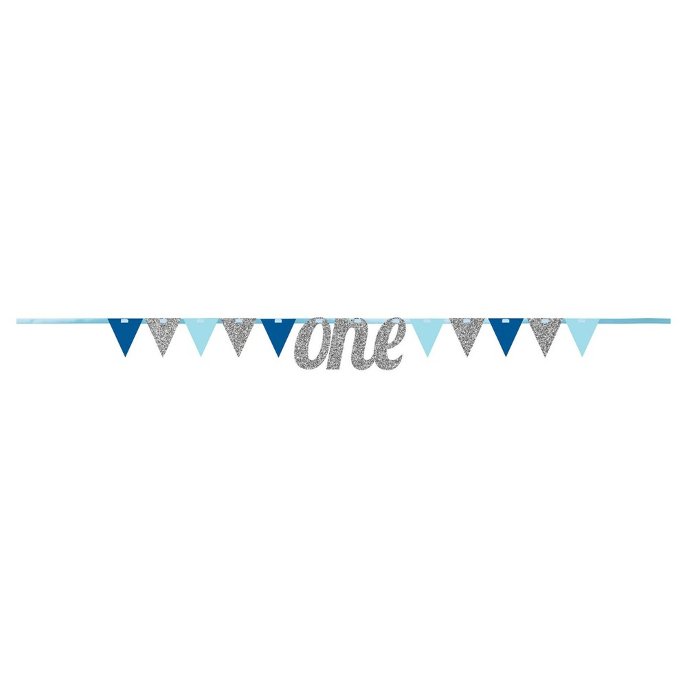 Image of 1st Birthday Boy Pennant Banner