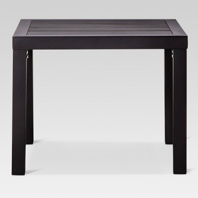 Bryant Faux Wood Square Patio Side Table - Black - Project 62™