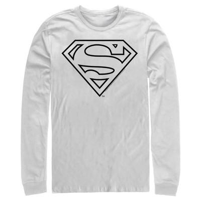 Men's Superman Logo Sleek Long Sleeve Shirt
