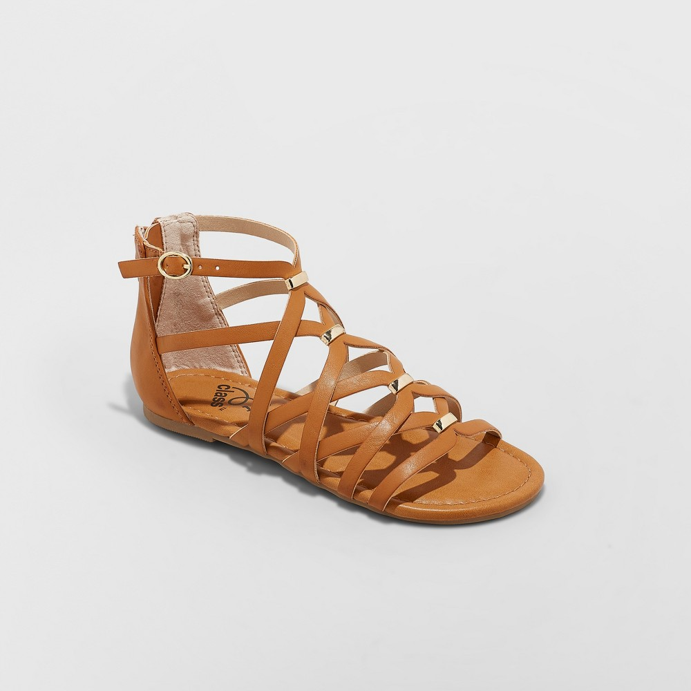 Image of Girls' Freya Gladiator Sandals - art class Cognac 13, Girl's, Red