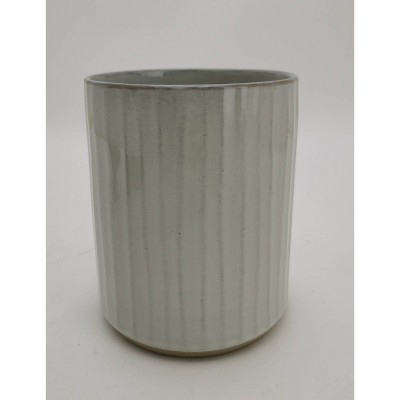 Stoneware Utensil Caddy Gray - Hearth & Hand™ with Magnolia