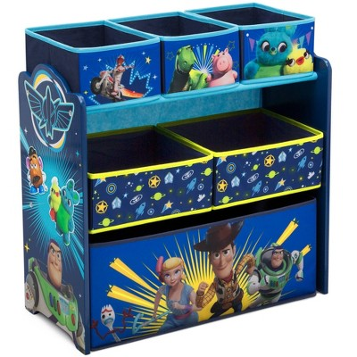 Disney Pixar Toy Story 4 Design and Store 6 Bin Toy Organizer - Delta Children