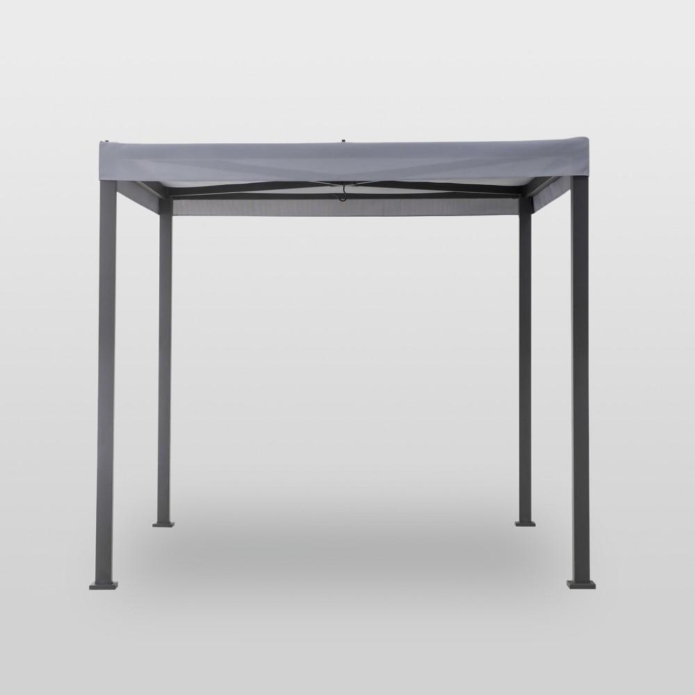 8'x8' Pergola with Sail Shades Gray - Project 62