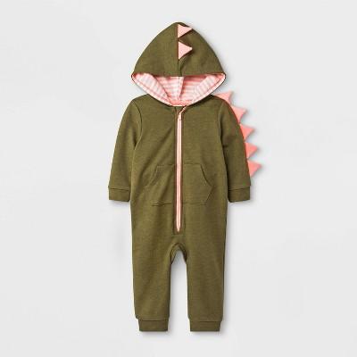 Baby Girls' Critter Dino Romper - Cat & Jack™ Green 3-6M