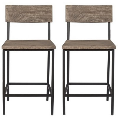 Set Of 2 Tundra Counter Height Dining Chairs Gray   Treasure Trove