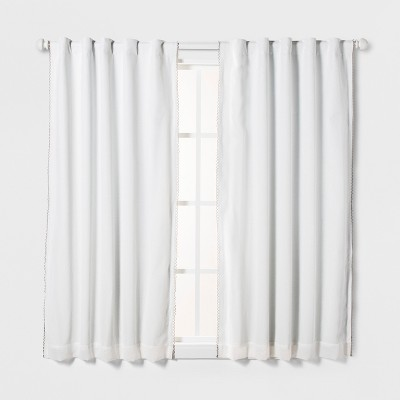 Loop Trim Blackout Window Curtain Panel - Pillowfort™