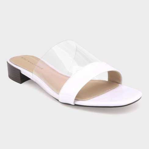 e7db36e08 Women s Piper Clear Acrylic Heeled Slide Sandals - Who What Wear™   Target