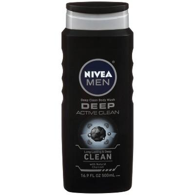 Body Washes & Gels: Nivea Men Deep Active Clean Body Wash
