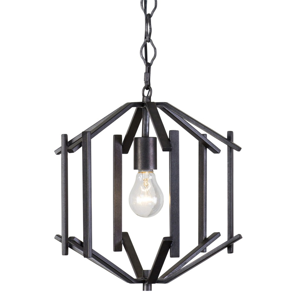Offset 1-Light Pendant Forged Iron - Rogue Decor Co.