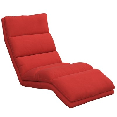 Burbank Wave Adjustable Memory Foam Lounger Red - Room & Joy