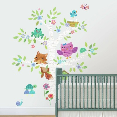 RoomMates Woodland Baby Birch Tree Peel and Stick Giant Wall Decal