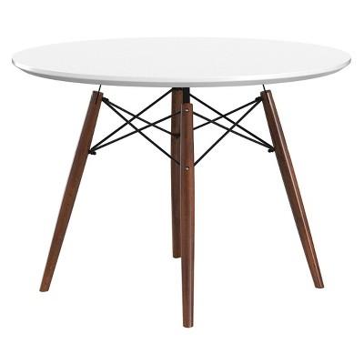 Parisian Dining Table White/Walnut - Aeon