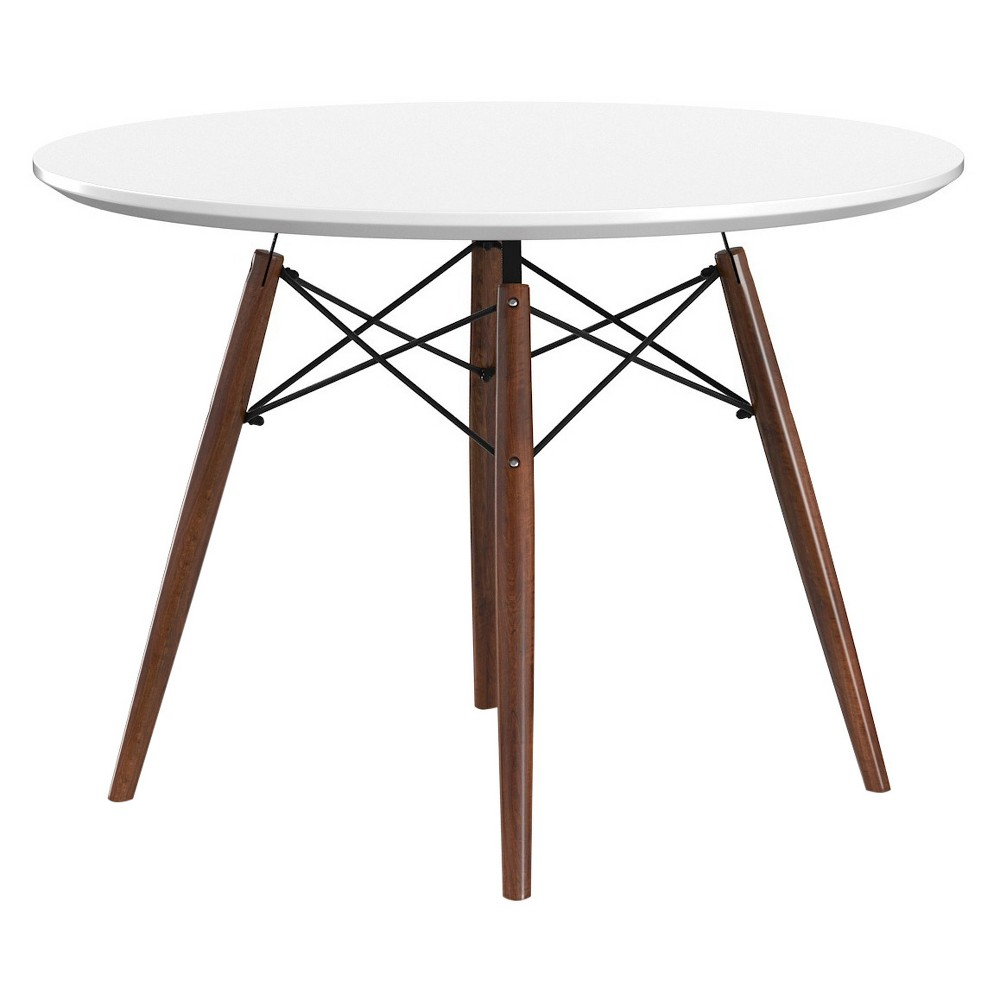 Parisian Dining Table - White And Walnut (Brown) - Aeon