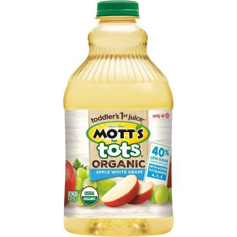 Mott's for Tots Organic Apple White Grape Juice - 64 fl oz Bottle - image 1 of 1