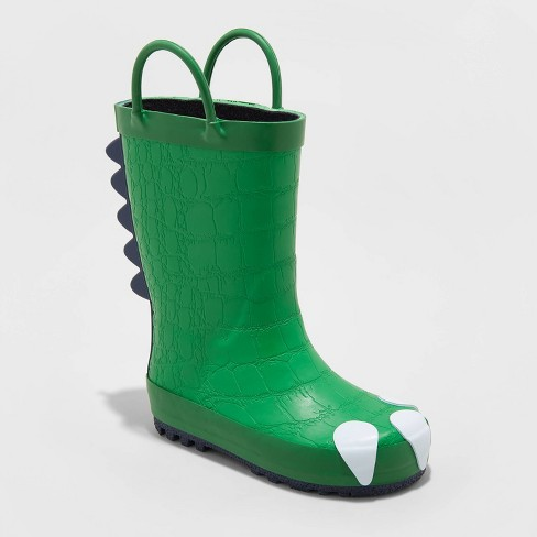 Toddler Boys' Dustyn Dinosaur Rain Boots - Cat & Jack™ Green - image 1 of 3